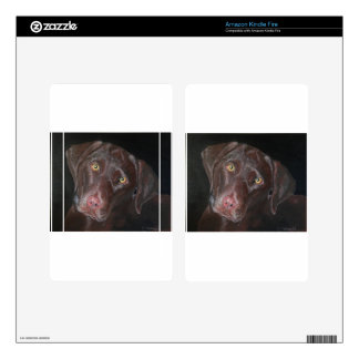 Chocolate Labrador Kindle Fire Decal
