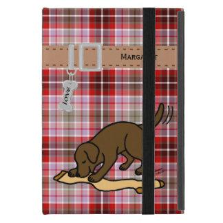 Chocolate Labrador Stocking Cover For iPad Mini