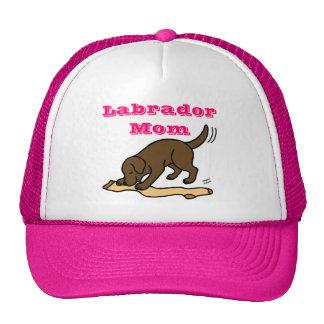 Chocolate Labrador Stocking Trucker Hat