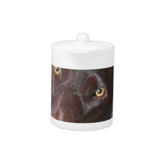 Chocolate Labrador Teapot