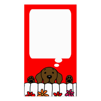 Chocolate Labrador watching you message card Double-Sided Standard Business Cards (Pack Of 100)
