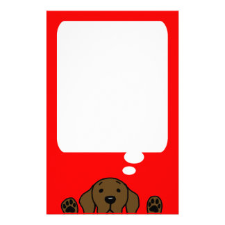 Chocolate Labrador watching you Stationery