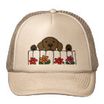 Chocolate Labrador watching you Trucker Hat