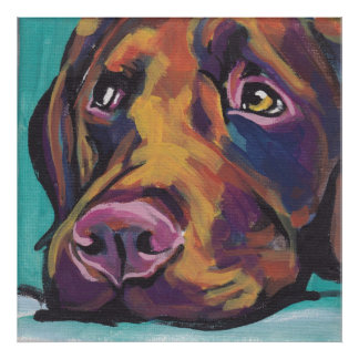 Chocolate Labraor Retriever Pop Art Print