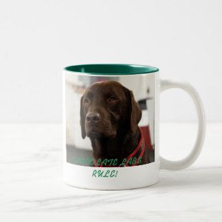 CHOCOLATE LABS RULE! Two-Tone COFFEE MUG