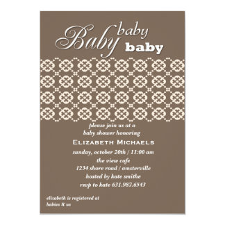 Chocolate Lace Baby Shower  Invitation
