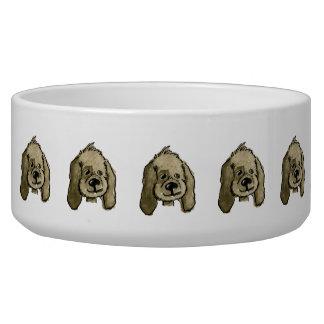 Chocolate Lady Dog Bowl