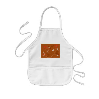 chocolate leaves and red berries kids' apron