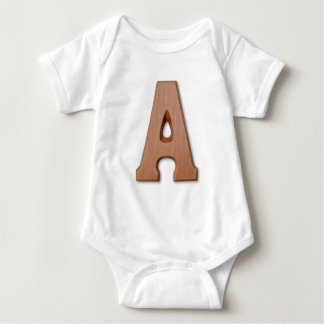 Chocolate letter A Baby Bodysuit