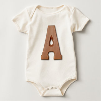 Chocolate letter A Baby Creeper