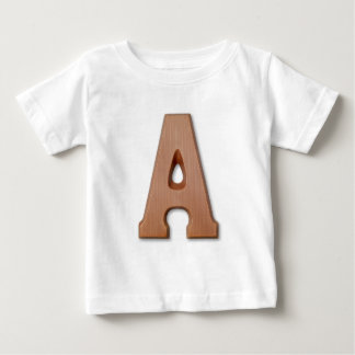 Chocolate letter A Baby T-Shirt