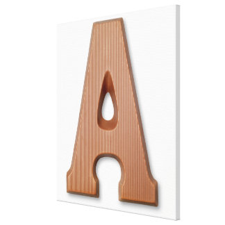 Chocolate letter a canvas print