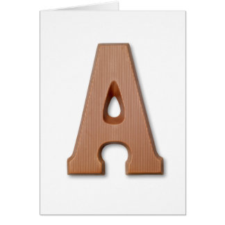 Chocolate letter A Card