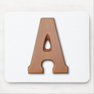 Chocolate letter A Mouse Pad