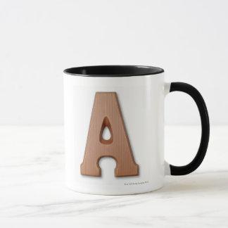 Chocolate letter a mug