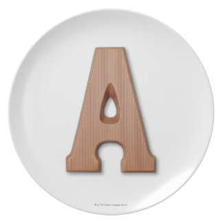 Chocolate letter a plate