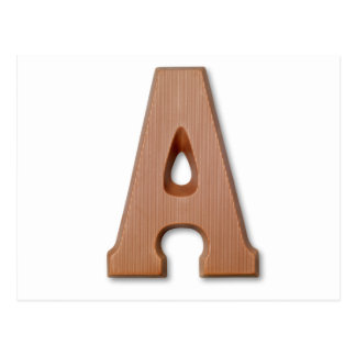 Chocolate letter A Postcard