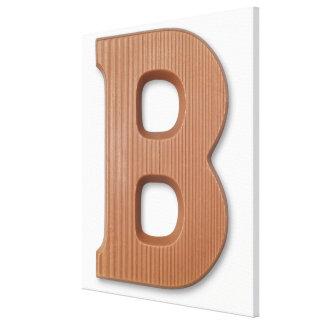 Chocolate letter b canvas print