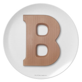 Chocolate letter b dinner plate