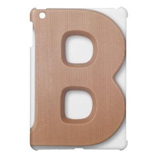 Chocolate letter b iPad mini cover