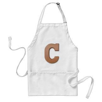 Chocolate letter C Adult Apron