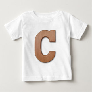 Chocolate letter C Baby T-Shirt