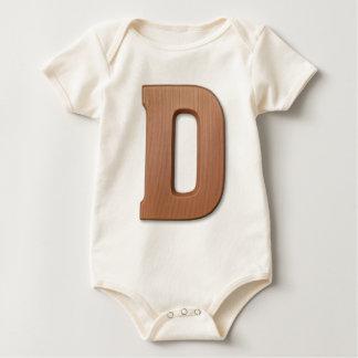 Chocolate letter D Baby Bodysuit