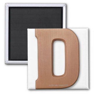 Chocolate letter d refrigerator magnets