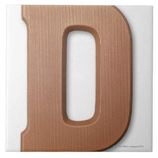 Chocolate letter d tile