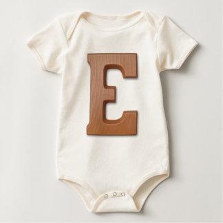 Chocolate letter E Baby Bodysuit