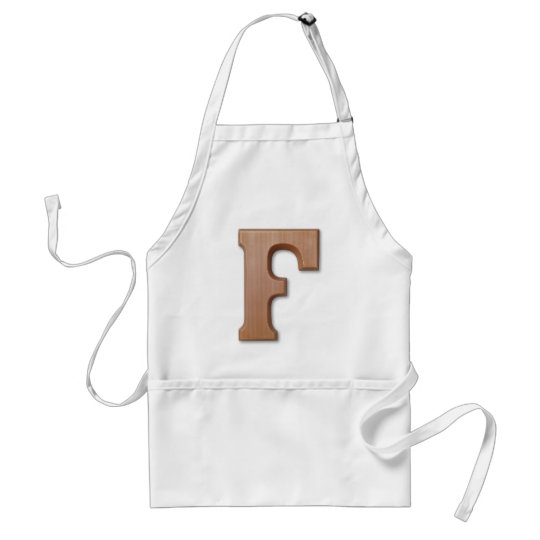 Chocolate letter F Adult Apron