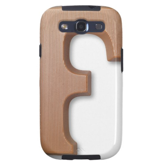 Chocolate letter f galaxy SIII cover