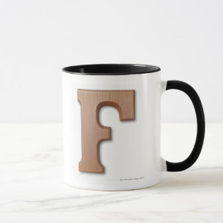 Chocolate letter f mug
