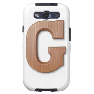 Chocolate letter g galaxy SIII covers