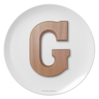 Chocolate letter g plate