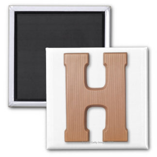 Chocolate letter h magnet