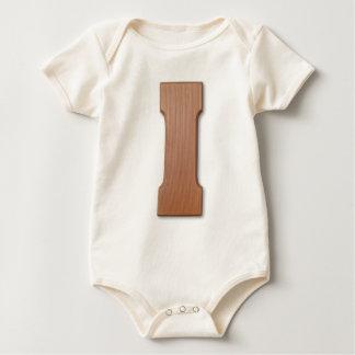 Chocolate letter I Baby Bodysuit
