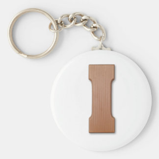 Chocolate letter I Keychain