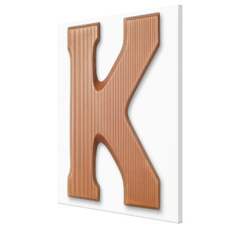 Chocolate letter k canvas print