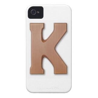 Chocolate letter k Case-Mate iPhone 4 case