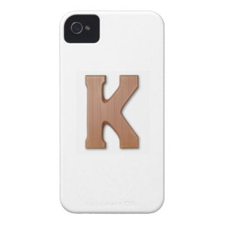 Chocolate letter k iPhone 4 Case-Mate case