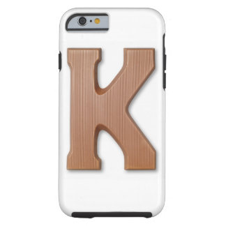 Chocolate letter k tough iPhone 6 case