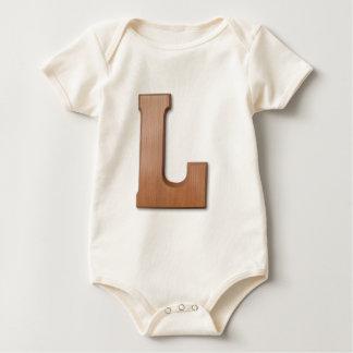 Chocolate letter L Baby Bodysuit