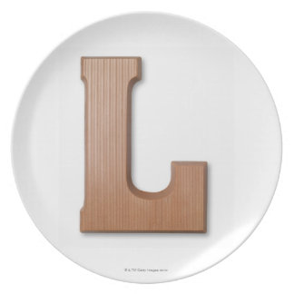 Chocolate letter l plate