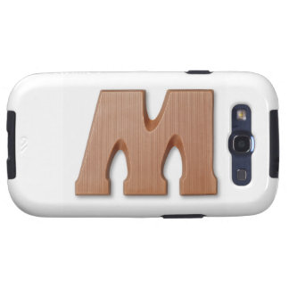 Chocolate letter m samsung galaxy s3 covers