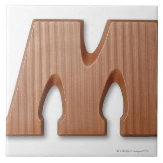 Chocolate letter m ceramic tile