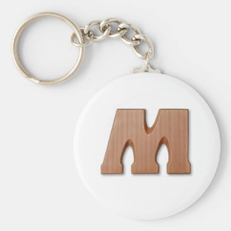 Chocolate letter M Basic Round Button Keychain