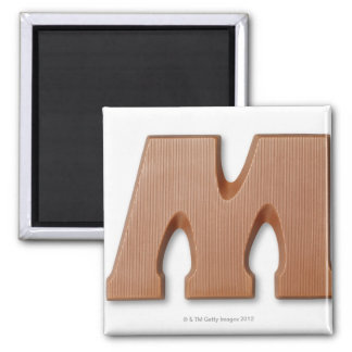Chocolate letter m magnet