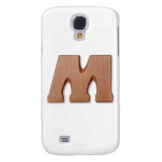 Chocolate letter M Samsung Galaxy S4 Covers