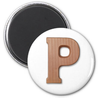 Chocolate letter P Magnet